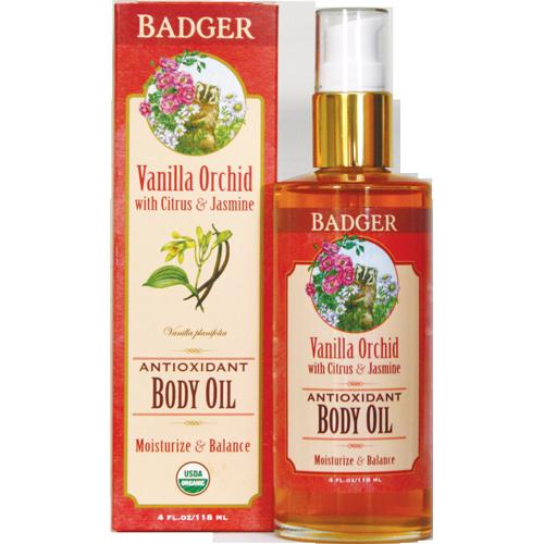 Badger Antioxidant Body Oil - Vanilla Orchid