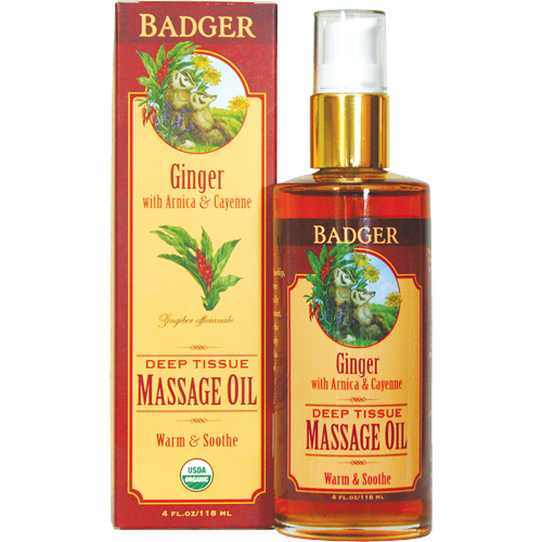 Badger Deep Tissue Massage Oil - Ginger